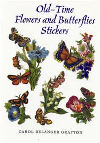 Stickersbog - Flowers and Butterflies